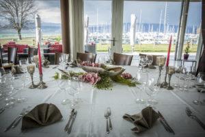 banquets restaurant au bord du lac de neuchatel a portalban fribourg anniversaire